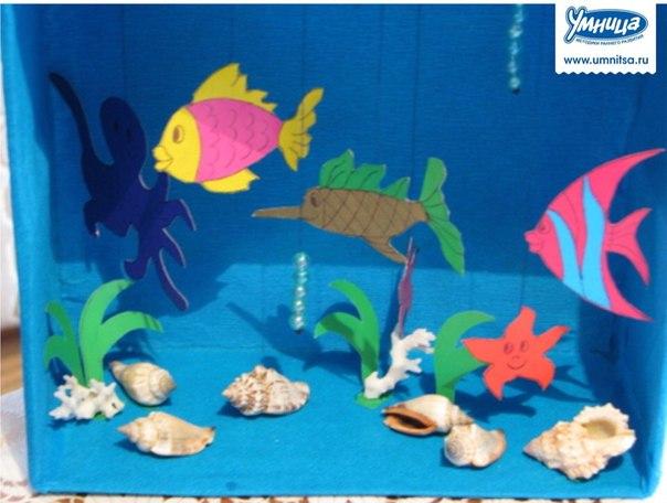 Поделка на тему аквариум