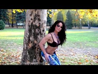 Female Muscle Gabriella Bankuti Fitness Model Photoshooting Video Part 2
