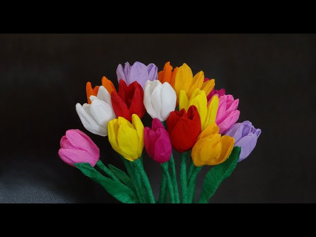 How to make beautiful paper tulip flowers / DIY Mother's day craft