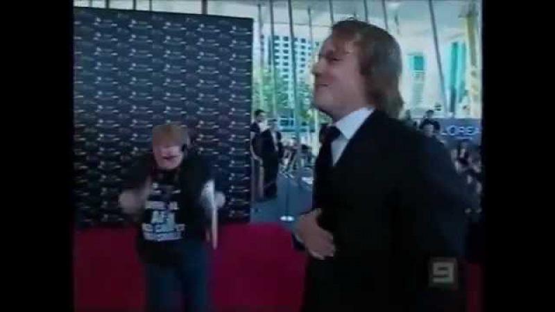Реакция Фанатки на Хита Леджера. Fan Suddenly Meet Heath Ledger.