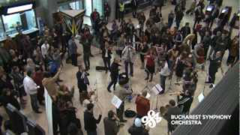 [Official] Flash Mob at Bucharest International Henri Coanda Airport by Bucharest Symphony Orchestra