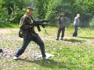 Сайга и Вепрь  стрельба по македонски