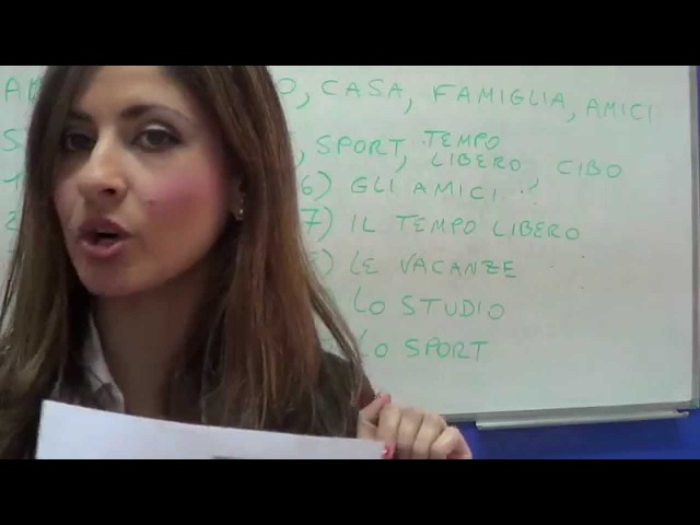 OWI 3 - Lezione di grammatica italiana