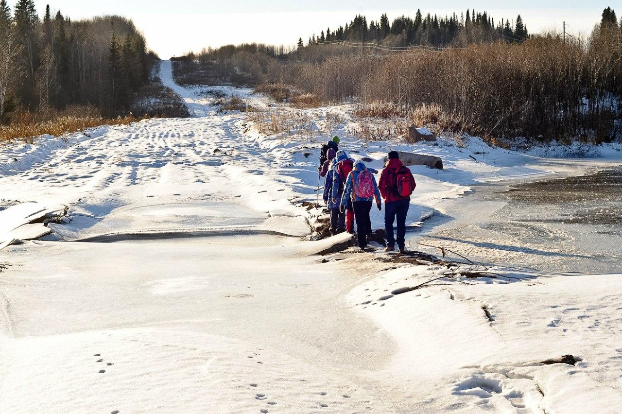 Переход речки Большая Вороновка