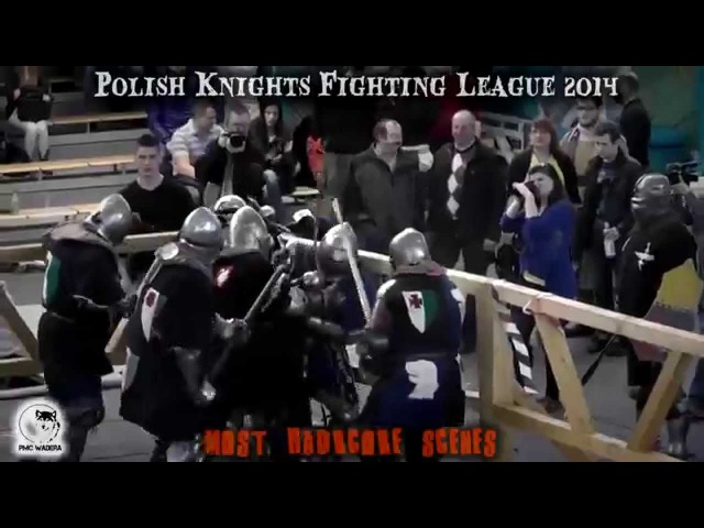жесть и кровь Настоящие рыцарские бои на мечах средневековый мордобой