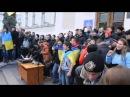 Школьная линейка в украинской школе Москалей на ножи Кто не скачет тот москаль