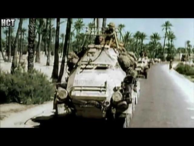 Erwin Rommel and his German AfrikaKorps 1941 (Combat footage)