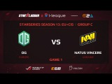 OG vs NaVi, StarSeries 13 EU+CIS, Game 1