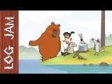 Fishing - funny cartoons  Log Jam series