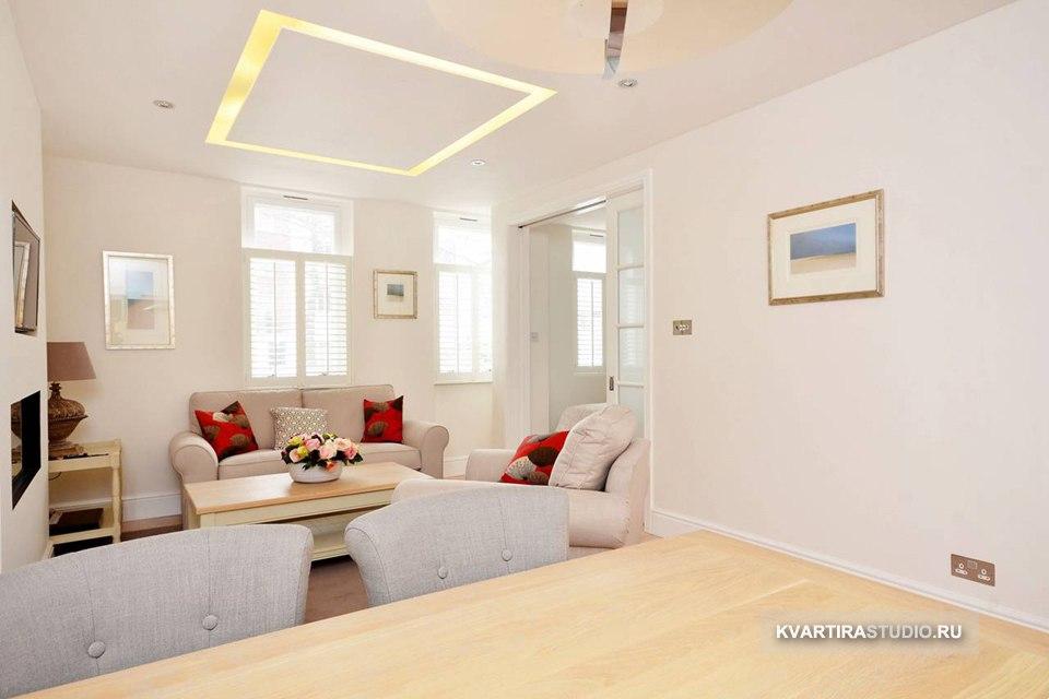 Квартира 40 м с кухней-гостиной и маленькой спальней в Лондоне / Великобритания - http://kvartirastudio.