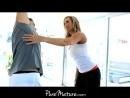 Big-titted MILF seduces her yoga teacher
