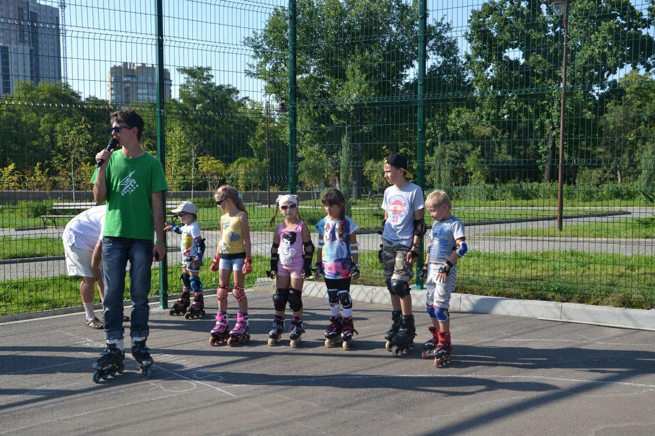 Детский соревнования по роликам, парк Победы