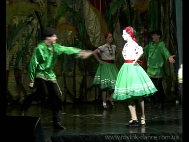 Русский народный танец кадриль - ансамбль Росток