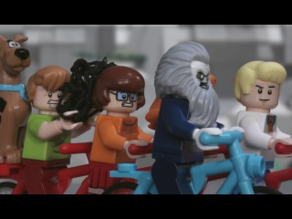 ЛЕГО Мультфильм Scooby-Doo - Ghoul On Wheels - Stop Motion Mini Movie