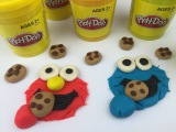 Learn How To Make A Play Doh Elmo And Cookie Monster