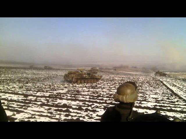 Попытка прорыва ВСУ под Петровским - 14 февраля 2015 года