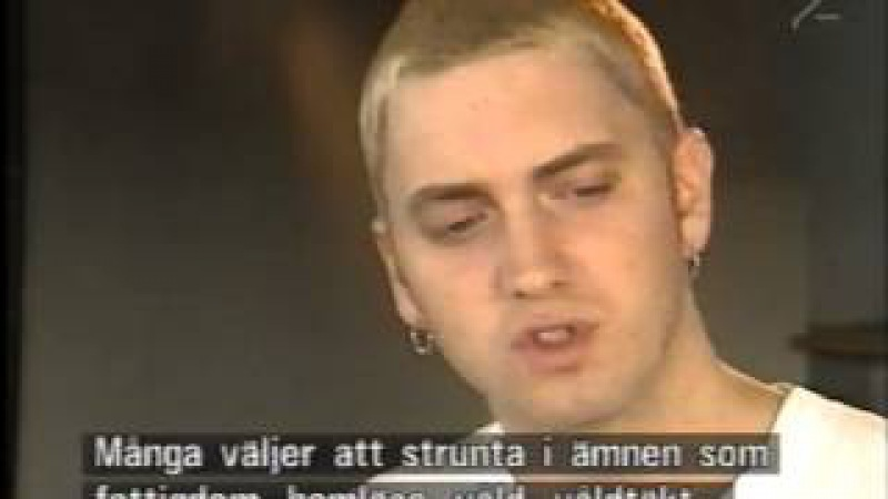 Eminem. Swedish tv. Very early interview 1999. kind of rare.