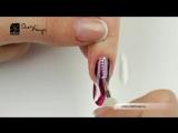 Дизайн ногтей. Жемчужные нити.
