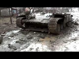Донбасс Последствия боев в Углегорске Февраль 2015Новости Сегодня Новое Украина Россия