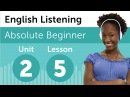 English Listening Comprehension Making Plans for the Day in English