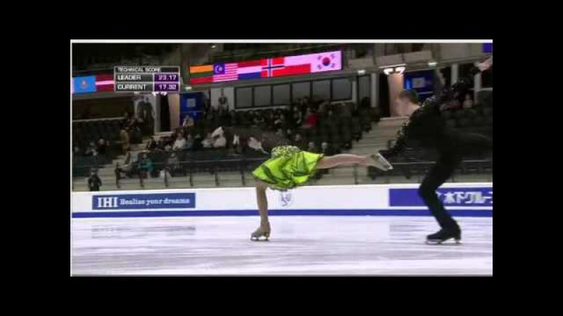 Eugenia TKACHENKA / Yuri HULITSKI - 2015 World Junior Championships - SD