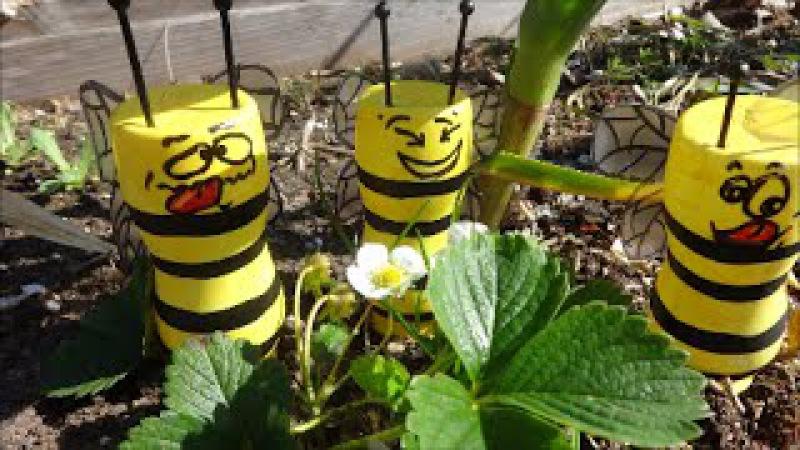 МК Как Сделать Пчел из Пластиковых Бутылок для Вашей Дачи