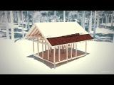 этапы строительства дома Север. Проект Сергея Домогацкого. Отзыв