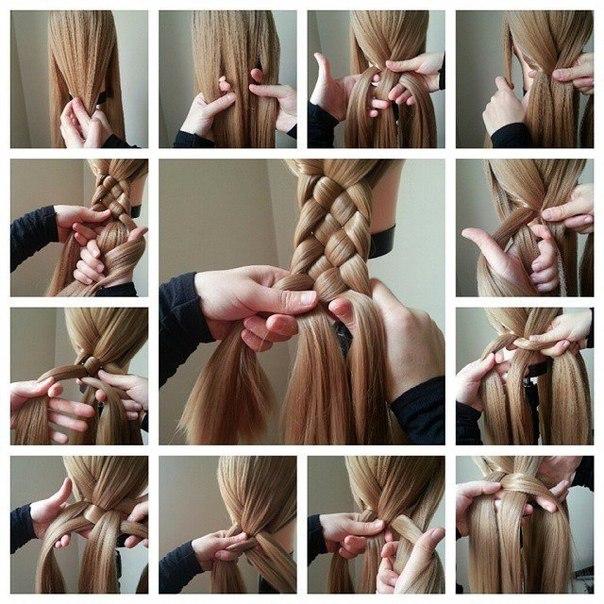 Косы на длинные волосы своими руками фото пошагово девочкам