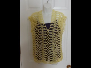 Crochet Hairpin lace Summer Blouse