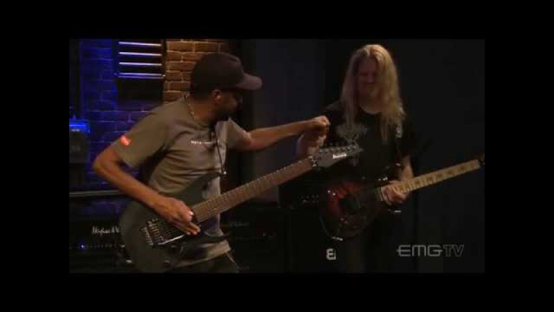 Tony MacAlpine and Jeff Loomis play Square Circles live on EMGtv
