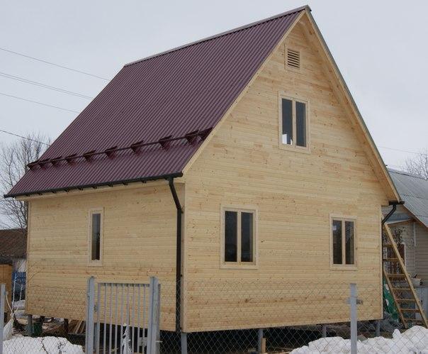 Закончено строительство индивидуального проекта каркасного дома 6 х 6,5 м. в Московской области, Коломенском районе