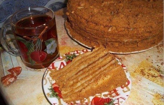 медовый торт с заварным кремом с фото