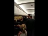 Путин Вас убьет! - Пьяное русское быдло угрожает во время полета