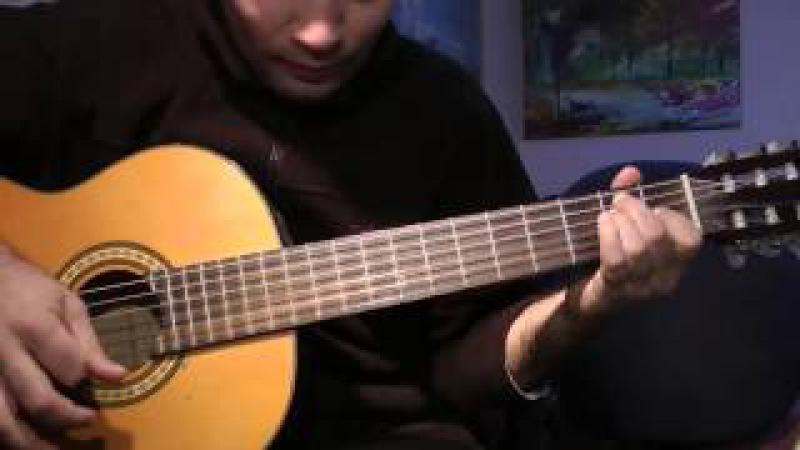 Испанское фламенко,на гитаре,полный урок.выучите за полчаса