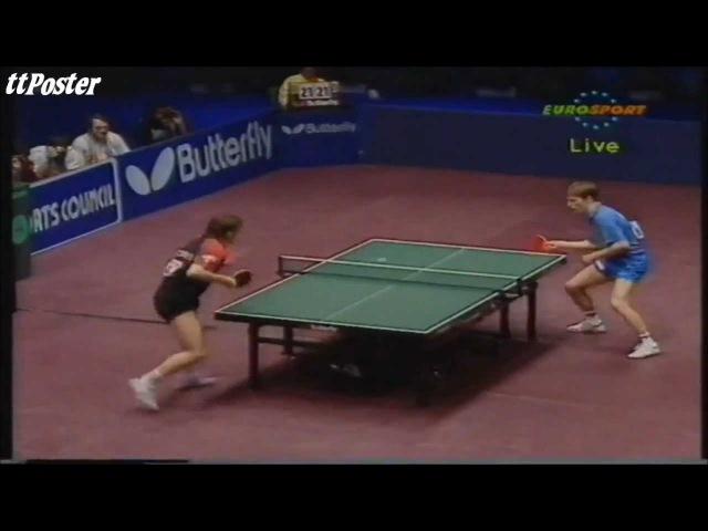 European Championships 1994: Jean Michel Saive-Jan Ove Waldner