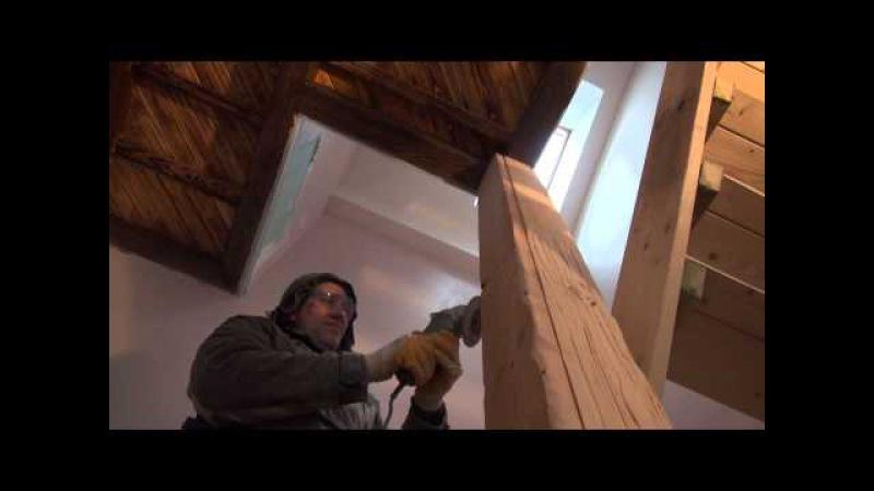 Изготовление фальшбалок из дерева