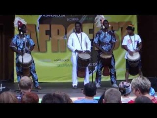 Afrofest Афрофест 2014 Сад Баумана - барабанщики Afromania drummers