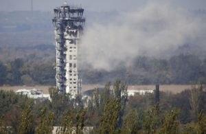 В Донецком аэропорту рухнула диспетчерская вышка  - наблюдательный пост «киборгов» хунты