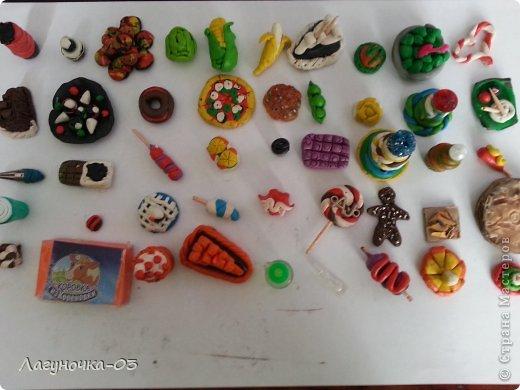 Как сделать для кукол еду из пластилина