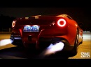Ferrari F12 Berlinetta w ARMYTRIX Titanium Mufflers Loud Revs and Flames