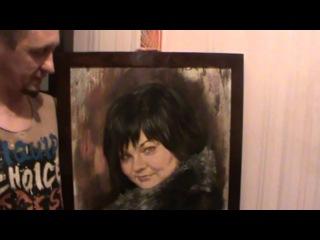 Портрет маслом на холсте художник Александр Рысаков - особенная техника.