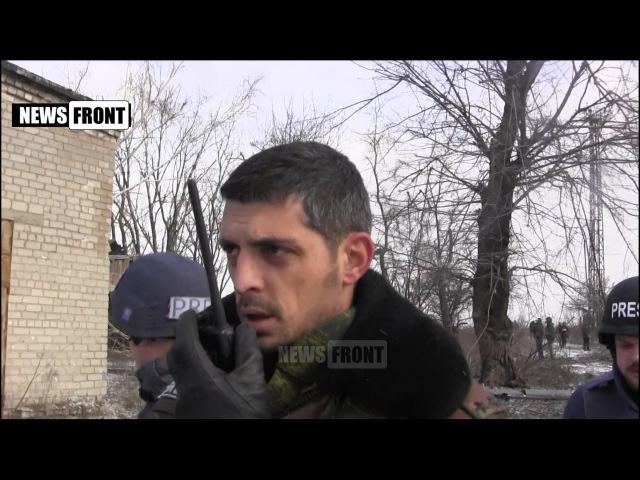 Гиви отдает приказ на подавление огня, каратели стреляют по донецкому аэропорту