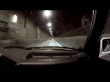 Two BMW E30 M50 turbos racing and burnouts