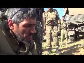 Пленных бЕндеровцев заставили прыгать,чеченцы, ДНР 30 08 2014 Луганск Донецк