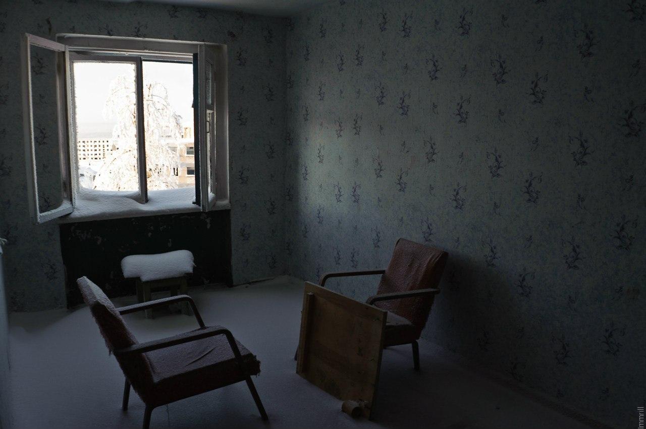 В квартире поселка-призрака Юбилейный