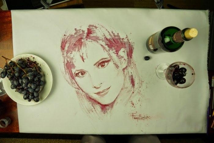 Рисование вином мастер класс