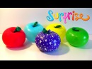 Apple Balloons Surprise Pooping Challenge Party Time - Mini Toys - Video for Children Part II