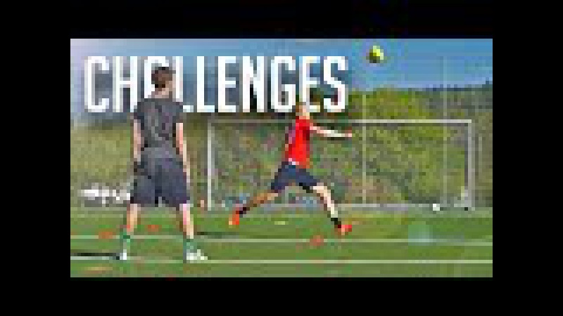 FUNNY FOOTBALL CHALLENGES • KONZI vs MAX