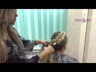 Плетение волос (объемные косы) с канеколоном, прически на длинные и средние волосы