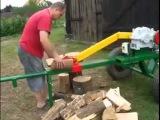 Удивительная машина для колки дров